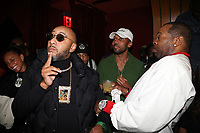 NEW YORK, NY- SEPTEMBER 12: Swizz Beatz, Baby Cham and Busta Rhymes pictured at Swizz Beatz Surprise Birthday Party at Little Sister in New York City on September 12, 2021. Credit: Walik Goshorn/MediaPunch