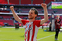 29th May 2021; Wembley Stadium, London, England; English Football League Championship Football, Playoff Final, Brentford FC versus Swansea City; Mathias Jensen of Brentford with a winners medal after they won 2-0 and promoted to the premier league