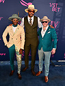 HALLANDALE BEACH, FL - JANUARY 25: Boodaddy Diamonds, Brian Polo-Dixon and Jean G. Francillon attend the 2020 Pegasus World Cup Championship Invitational Series at Gulfstream Park on January 25, 2020 in Hallandale, Florida. ( Photo by Johnny Louis / jlnphotography.com )