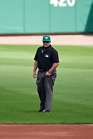 Umpire Marvin Hudson during a Major League Spring Training game between the Minnesota Twins and Boston Red Sox on March 17, 2021 at JetBlue Park in Fort Myers, Florida.  (Mike Janes/Four Seam Images)