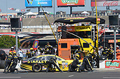 2017 Monster Energy NASCAR Cup Series<br /> O'Reilly Auto Parts 500<br /> Texas Motor Speedway, Fort Worth, TX USA<br /> Sunday 9 April 2017<br /> Daniel Suarez, STANLEY Toyota Camry, makes a pit stop<br /> World Copyright: John K Harrelson/LAT Images<br /> ref: Digital Image 17TEX1jh_05592