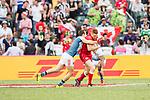 Canada vs France during their Bowl Final match as part of the HSBC Hong Kong Rugby Sevens 2018 on 08 April 2018, in Hong Kong, Hong Kong. Photo by Chung Yan Man / Power Sport Images