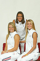 28 October 2004: Three current Stanford swimming Olympians, members of the 2004 Olympic swim team: Dana Kirk, Kristen Caverly, and Caroline Bruce.<br />Photo credit mandatory: David Gonzales28 October 2004: Three current Stanford swimming Olympians, members of the 2004 Olympic swim team: Dana Kirk, Kristen Caverly, and Caroline Bruce.
