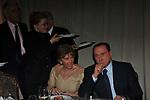 SILVIO BERLUSCONI CON FRANCESCA SCARONI<br /> PREMIO GUIDO CARLI - TERZA  EDIZIONE<br /> PALAZZO DI MONTECITORIO - SALA DELLA LUPA<br /> CON RICEVIMENTO  HOTEL MAJESTIC   ROMA 2012