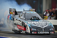 Sept. 16, 2011; Concord, NC, USA: NHRA funny car driver Matt Hagan during qualifying for the O'Reilly Auto Parts Nationals at zMax Dragway. Mandatory Credit: Mark J. Rebilas-US PRESSWIRE