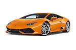 Stock pictures of low aggressive front three quarter view of 2017 Lamborghini Huracan LP 6104 2 Door Coupe Low Aggressive