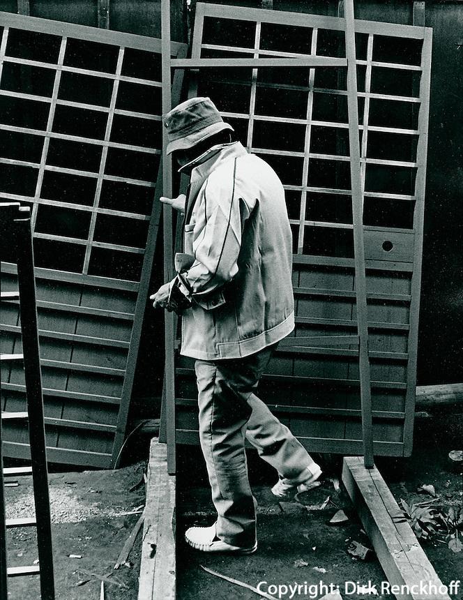 Fensterbauer in Kyoto, Japan
