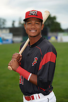 Batavia Muckdogs Brayan Hernandez (41) poses for a photo before a game against the Auburn Doubledays on September 6, 2017 at Dwyer Stadium in Batavia, New York.  Auburn defeated Batavia 6-3.  (Mike Janes/Four Seam Images)