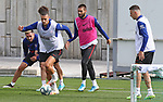Atletico de Madrid's Hector Herrera, Kieran Trippier, Mario Hermoso, Yannick Carrasco and Santiago Arias during training session. June 4,2020.(ALTERPHOTOS/Atletico de Madrid/Pool)