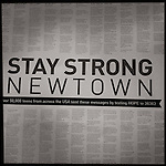 Newtown, CT-17 December 2012- Photographer's note:  The United States and the entire world have responded to the Sandy Hook shooting tragedy.  50,000 teens across the US sent in these texts via HOPE to 38383.   Christopher Massa / Republican-American