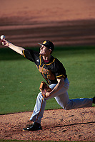 Bethune-Cookman Wildcats starting pitcher Alex Seibold (40) delivers a pitch during a game against the Wisconsin-Milwaukee Panthers on February 26, 2016 at Chain of Lakes Stadium in Winter Haven, Florida.  Wisconsin-Milwaukee defeated Bethune-Cookman 11-0.  (Mike Janes/Four Seam Images)