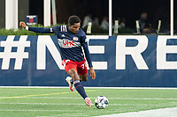 FOXBOROUGH, MA - OCTOBER 16: Jon Bell #70 of New England Revolution II during a game between North Texas SC and New England Revolution II at Gillette Stadium on October 16, 2020 in Foxborough, Massachusetts.