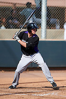 Colorado Rockies minor league outfielder David Kandilas #52 during an instructional league game against the San Francisco Giants at the Salt River Flats Complex on October 4, 2012 in Scottsdale, Arizona.  (Mike Janes/Four Seam Images)