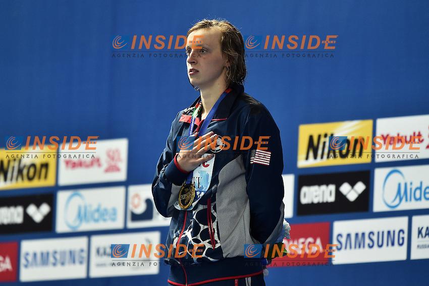 LEDECKY Katie Gold Medal Medal Women's 400m Freestyle <br /> Day10 02/08/2015 Kazan Arena <br /> Swimming Nuoto <br /> XVI FINA World Championships Aquatics  <br /> Kazan Tatarstan RUS <br /> Photo Andrea Staccioli/Deepbluemedia/Insidefoto