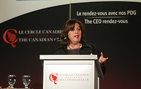 Sylvie Vachon, President & CEO of the Montreal Port Authority, deliver a speech to the Canadian Club of Montreal,Monday, February 15, 2016.<br /> <br /> PHOTO : Pierre Roussel - Agence Quebec Presse