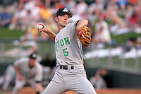 Clinton Lumberkings Joey McLaughlin during a Midwest League game at Fifth Third Field on July 18, 2006 in Dayton, Ohio.  (Mike Janes/Four Seam Images)