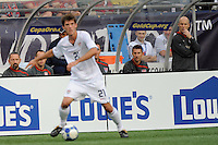 United States (USA) head coach Bob Bradley watches Brad Evans (21). The United States and Haiti played to a 2-2 tie during a CONCACAF Gold Cup Group B group stage match at Gillette Stadium in Foxborough, MA, on July 11, 2009. .