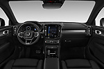 Stock photo of straight dashboard view of 2019 Volvo XC40 R-Design 5 Door SUV Dashboard