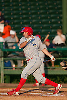 May 6 2010: Cody Overbeck (5) of the Clearwater Threshers during a game vs. the Daytona Cubs at Jackie Robinson Ballpark in Daytona Beach, Florida. Clearwater, the Florida State League High-A affiliate of the Philadelphia Phillies, won the game against Daytona, affiliate of the Chicago Cubs, by the score of 4-1.  Photo By Scott Jontes/Four Seam Images