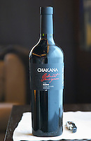 Bottle of Chakana Cabernet Sauvignon 2003 Reserve Lujan de Cuyo Mendoza The Restaurant Red at the Hotel Madero Sofitel in Puerto Madero, Buenos Aires Argentina, South America