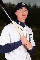 February 27, 2010:  Infielder Brent Dlugach (27) of the Detroit Tigers poses for a photo during media day at Joker Marchant Stadium in Lakeland, FL.  Photo By Mike Janes/Four Seam Images