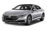 2018 Volkswagen Arteon Elegance 5 Door Hatchback Angular Front stock photos of front three quarter view