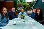 Enjoying the return to outdoor dining on Monday at QC's Bar and restaurant in Cahersiveen were l-r; Melissa O'Sullivan, Kieran Corcoran, Majella Corcoran, Aidan & Carmel O'Sullivan.