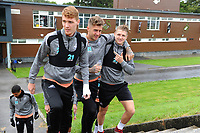 (L-R) Jay Fulton, Joe Rodon and George Byers of Swansea City  during the Swansea City Training Session at The Fairwood Training Ground, Wales, UK. Tuesday 11th September 2018