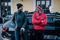 Tom Boonen & Jasper Stuyven (BEL/Trek-Segafredo) sharing some thoughts after the race<br /> <br /> 109th Milano-Sanremo 2018<br /> Milano > Sanremo (291km)