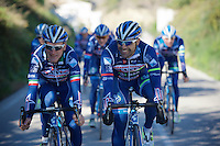 Enrico Gasparotto (ITA/Wanty-Groupe Gobert) & Danilo Napolitano (ITA/Wanty-Groupe Gobert) up front<br /> <br /> Pro Cycling Team Wanty-Groupe Gobert <br /> <br /> Pre-season Training Camp, january 2016
