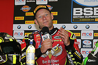 Shane Byrne of the Be Wiser Ducati team (No. 67) after winning Race One of the 2017 BSB Round 6 - Brands Hatch GP Circuit at Brands Hatch, Longfield, England on Sunday 23 July 2017. Photo by David Horn/PRiME Media Images