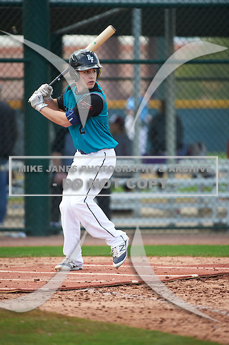Alex Rodriguez (2) of Cudahy High School in Cudahy, Wisconsin during the Under Armour All-American Pre-Season Tournament presented by Baseball Factory on January 14, 2017 at Sloan Park in Mesa, Arizona.  (Art Foxall/Mike Janes Photography)