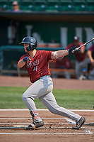 Chase Vallot (44) of the Idaho Falls Chukars bats against the Ogden Raptors at Lindquist Field on July 29, 2018 in Ogden, Utah. The Raptors defeated the Chukars 20-19. (Stephen Smith/Four Seam Images)