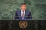 DSG meeting<br /> <br /> AM Plenary General DebateHis<br /> <br /> His Excellency Sooronbai JEENBEKOV President of the Kyrgyz Republic