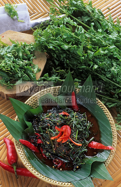"""Asie/Malaisie/Bornéo: Restaurant Kiranav - Belacan Pucuk Paku, recette avec fougères """"Pakis"""" base ed la cuisine malaisienne"""