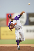 Patrick Urckfitz of the Lancaster JetHawks during game against the Modesto Nuts at Clear Channel Stadium in Lancaster,California on July 15, 2010. Photo by Larry Goren/Four Seam Images