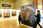Pic Kenny Smith...... Sotheby's held a preview of Scootish Pictures which are to be auctioned off in a sale later this month. 'Mechech' by Peter Howson goes on display