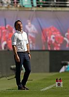 05.05.2018, Football 1. Bundesliga 2017/2018, 33.  match day, RB Leipzig - VfL Wolfsburg, in Red Bull Arena Leipzig. Trainer Bruno Labbadia (Wolfsburg)  *** Local Caption *** © pixathlon<br /> <br /> Contact: +49-40-22 63 02 60 , info@pixathlon.de