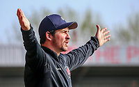 Joey Barton (Manger) of Fleetwood Town during the Sky Bet League 1 match between Fleetwood Town and Peterborough at Highbury Stadium, Fleetwood, England on 19 April 2019. Photo by Stefan Willoughby.