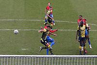 Angelo Balanta of Dagenham and Redbridge scores the third goal for his team during Dagenham & Redbridge vs Woking, Vanarama National League Football at the Chigwell Construction Stadium on 3rd May 2021