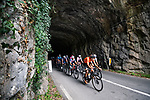 The large breakaway during Stage 18 of La Vuelta d'Espana 2021, running 162.6km from Salas to Alto del Gamoniteiru, Spain. 2nd September 2021.   <br /> Picture: Unipublic/Charly Lopez   Cyclefile<br /> <br /> All photos usage must carry mandatory copyright credit (© Cyclefile   Charly Lopez/Unipublic)
