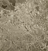historical aerial photograph San Jose, Santa Clara County, California, 1970