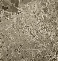 historical aerial photograph San Jose, Santa Clara County, California, 1970