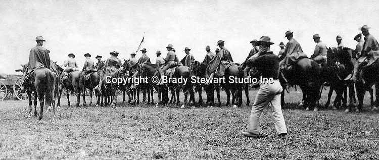 Gettysburg PA: View of Troop F of the 5th US Cavalry at Gettysburg. Brady Stewart was in Gettysburg with the Pittsburgh-area Boy's Brigade. They were in Gettysburg for the 40th anniversary of the battle of Gettysburg.