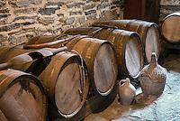 Hard cider wooden casks, Hancock Shaker Village, Hancock, Massachusetts, USA
