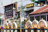 Store Fronts along Jalan Tun Sambanthan, Little India, Brickfields, Kuala Lumpur, Malaysia.