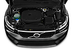Car Stock 2020 Volvo XC40 Momentum 5 Door SUV Engine  high angle detail view