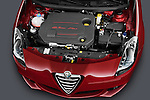 High angle engine detail of a 2010 - 2014 Alfa Romeo Giulietta 5 door hatchback.