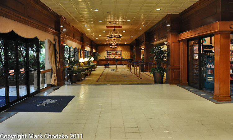 Newly renovated lobby of the Disneyland Hotel.