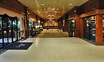 Newly renovated lobby of the Disneyland Hotel.